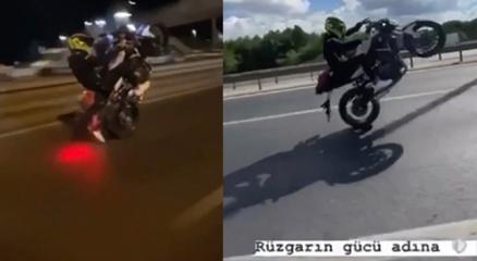 İstanbulda motosikletli magandanın drift, makas ve tek teker terörü kamerada
