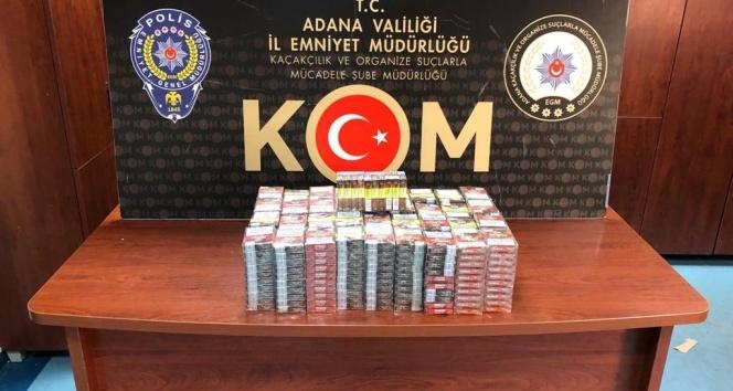 Adana'da kaçak içki ve puro operasyonu