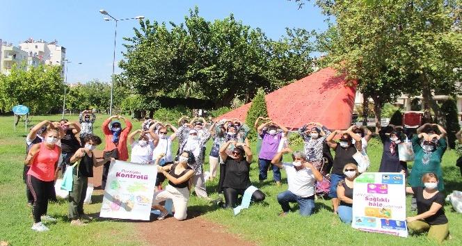 Kadınlar 55 mahallede diyetisyen ve spor eğitmenleri eşliğinde spor ve sağlıklı beslenme hareketi ile buluştu