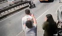 Taksim'de kapkaç dehşeti kamerada