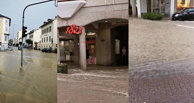 Almanya'da çöl sıcaklarının ardından şiddetli yağış başladı