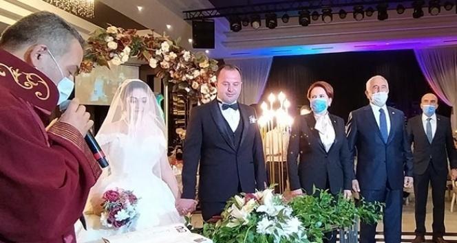 İYİ Parti Genel Başkanı Meral Akşener, düğüne katıldı