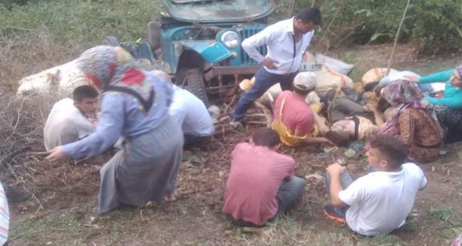 Fındık işçilerini taşıyan cip devrildi: 1 ölü, 3 yaralı