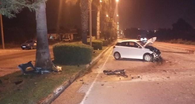 Antalya'nın Manavgat ilçesinde trafik kazası 2'si ağır 5 yaralı