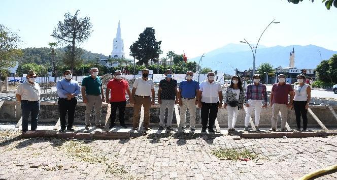 Kemer'de Atatürk Parkı projesinin temel atma töreni