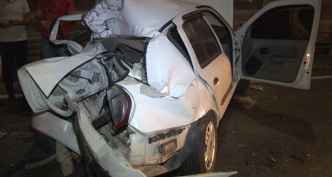 Haliç Köprüsü'nde feci trafik kazası:1 ağır yaralı
