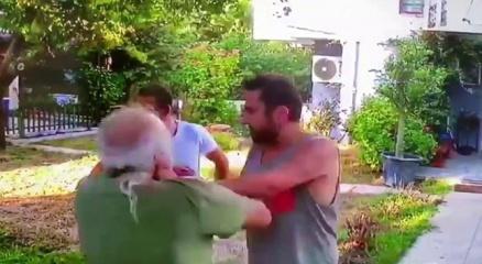 Halil Sezainin yaşlı adamı dövdüğü görüntüler ortaya çıktı