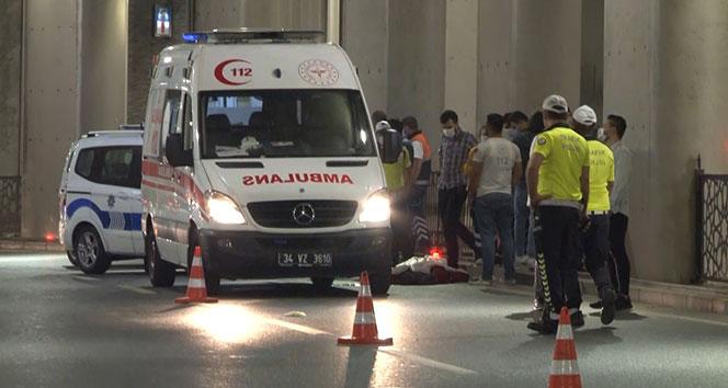 Taksim'de motosiklet kazasında 1 kişi hayatını kaybetti