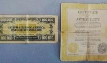 1 milyon dolar banknot ve sertifikası ele geçirildi