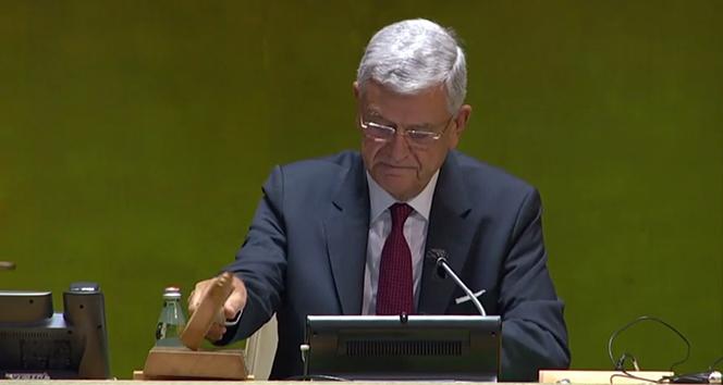 Volkan Bozkır, BM toplantılarının açılış konuşmasını yaptı
