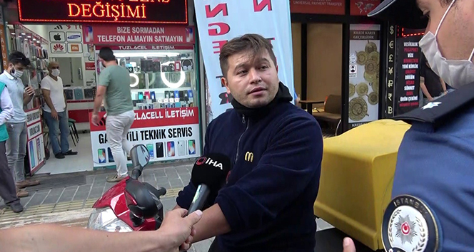 Tuzla'da maskesiz şahıstan polise tehdit
