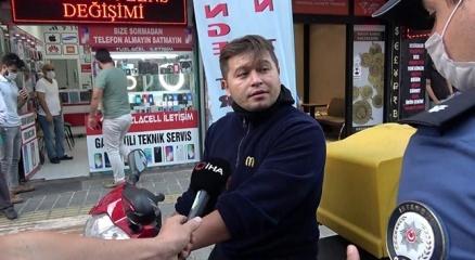 Tuzlada maskesiz şahıstan polise tehdit
