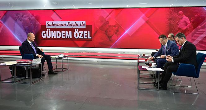 İçişleri Bakanı Süleyman Soylu, TGRT Haber canlı yayınında soruları cevapladı