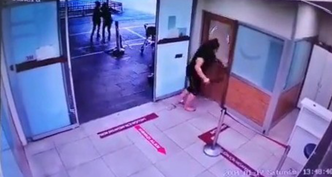 Maske takmayan kadın hastanede adeta terör estirdi