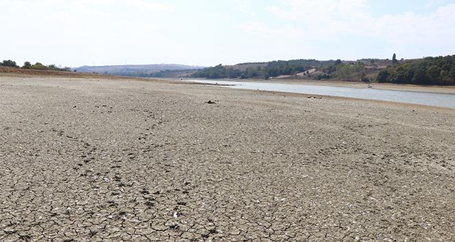 Bıyıkali Göletinde su seviyesi düştü sulamaya ara verildi