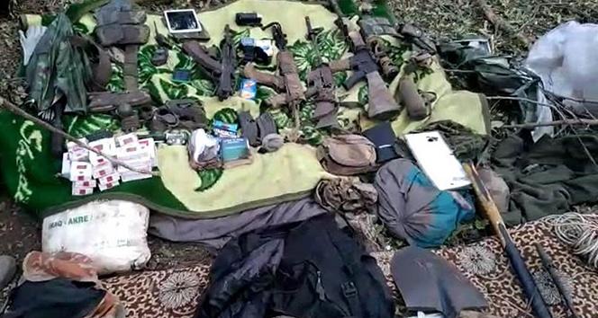 Irak kuzeyinde terör örgütü PKK'ya ait malzemeler ele geçirildi