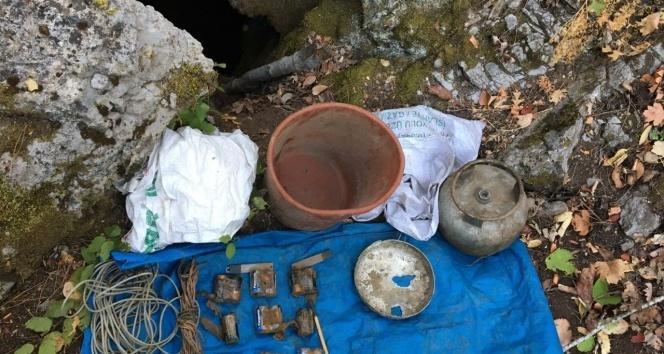 Amanoslar'da EYP yapımında kullanılan malzemeler ele geçirildi