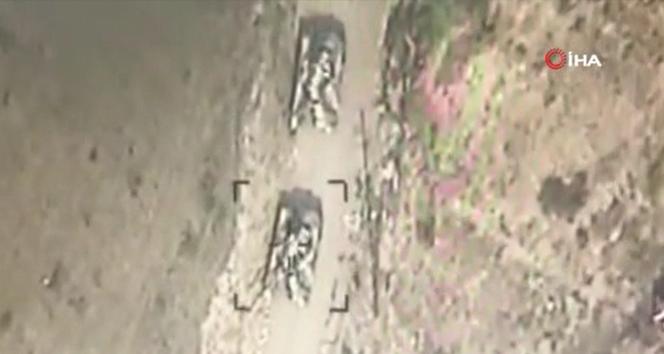 Ermeni ordusuna ait askeri araçlar yok edildi