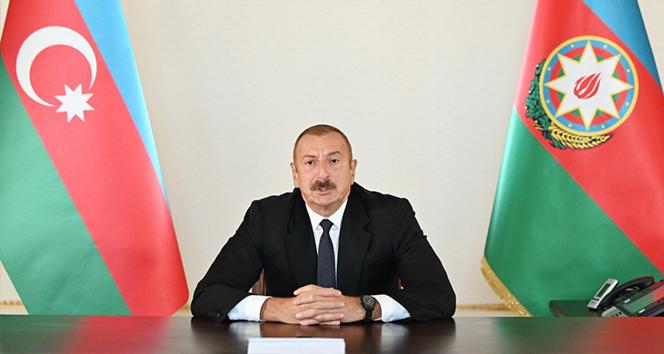 Azerbaycan Cumhurbaşkanı Aliyev: 'Tek şartımız Ermenistan ordusunun topraklarımızdan geri çekilmesidir'
