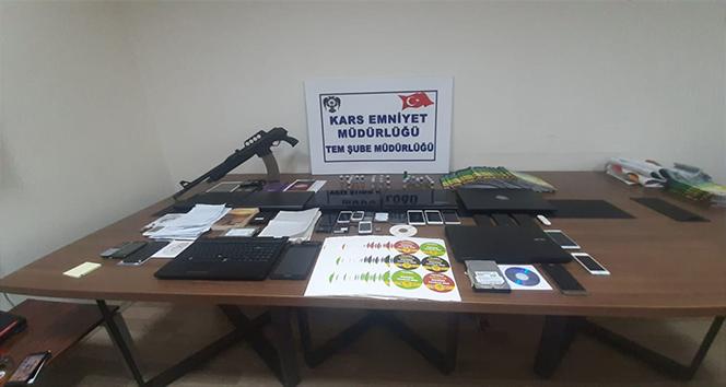Kars'ta PKK/KCK operasyonunda silah ve çok sayıda malzeme ele geçirildi