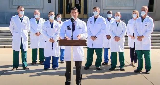 """Trump'ın doktoru Sean Conley: """"Başkanın durumu iyiye gidiyor"""""""