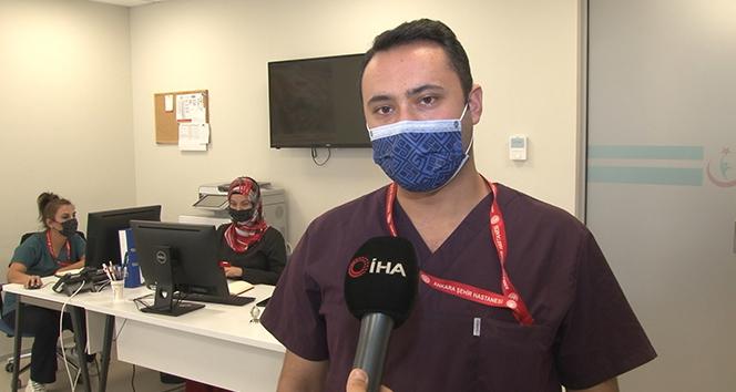 Virüs savaşçıları Covid-19'u yenerek görevinin başına döndü