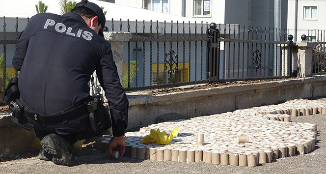 Vatandaşlar dinamite benzetti, polis alarma geçti, alçı kayıpları olduğu anlaşıldı