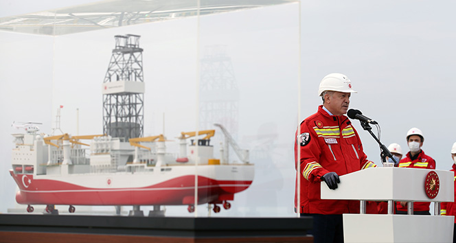 Cumhurbaşkanı Erdoğan: 'Tuna-1 bölgesinde toplam doğal gaz rezervi miktarı 405 milyar metreküpü buldu'