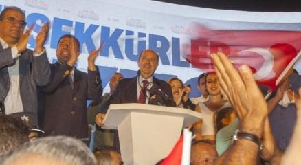 KKTCnin yeni Cumhurbaşkanı Ersin Tatardan zafer konuşması