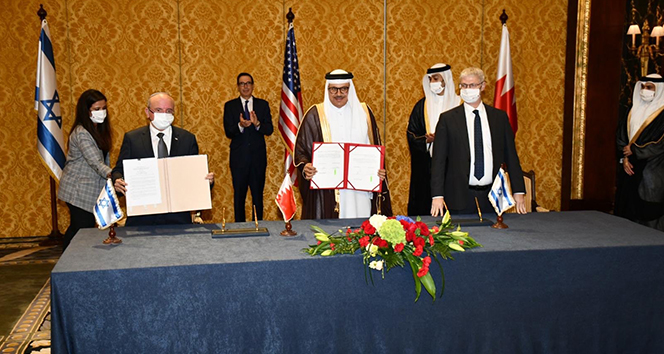 İsrail ve Bahreyn arasında diplomatik ilişkilerin kurulmasına dair anlaşma imzalandı