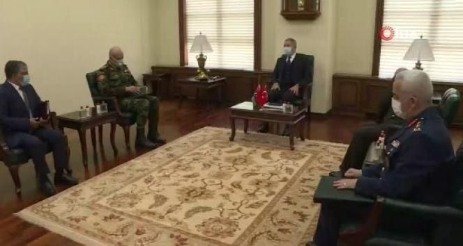 Bakan Akar, Libya Genelkurmay Başkanı El-Haddad'ı kabul etti
