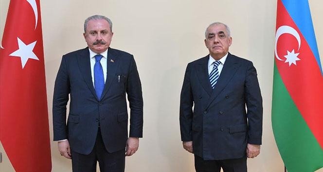 TBMM Başkanı Şentop, Azerbaycan Başbakanı Asadov ile görüştü