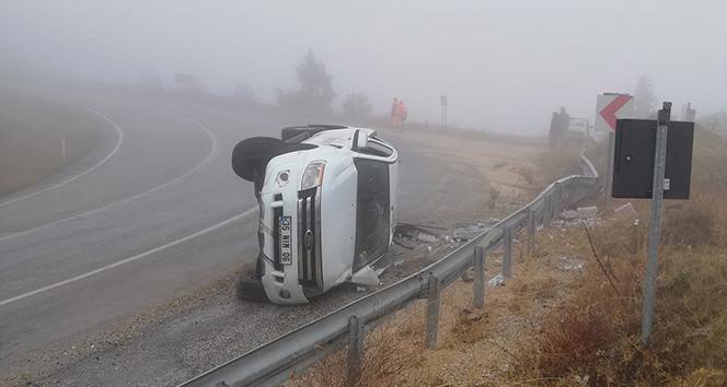 Yoğun sis kazaya neden oldu