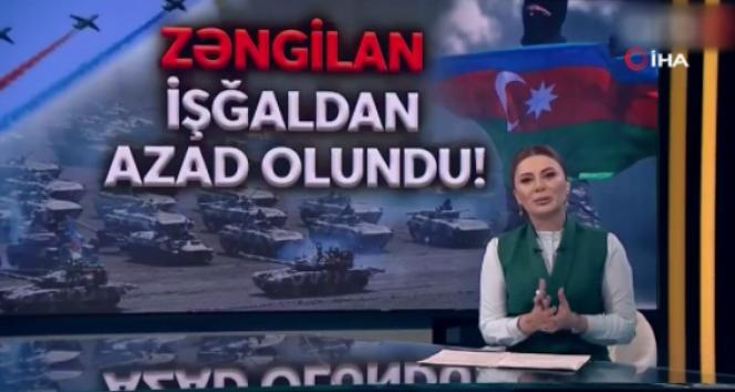 Azerbaycanlı spiker, memleketinin işgalden kurtarıldığını anons ederken gözyaşlarına hakim olamadı