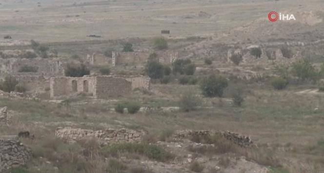 Ermenistan işgalinden kurtarılan Minbaşılı köyü görüntülendi