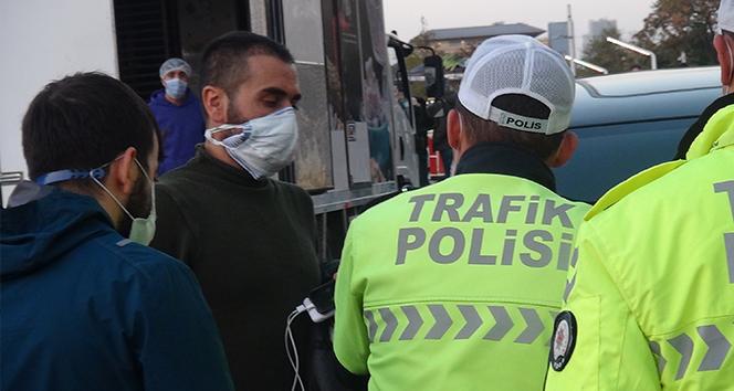 Cipiyle İstanbul turuna çıkan Korona virüslü, trafik polisine yakalandı