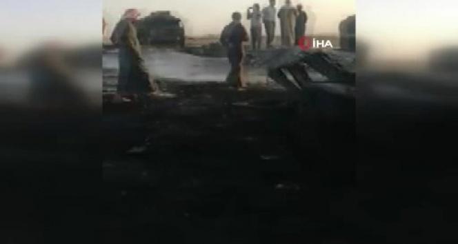 Cerablus'ta yangın 8 saat sonra söndürüldü