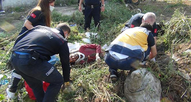 Bursa'da akılalmaz olay: Otların arasında yatan genç toprağa gömüldü