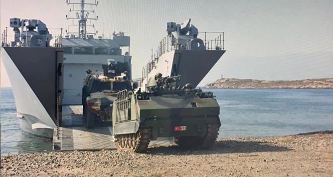 MSB: 'Amfibi Görev Grup Komutanlığı bağlısı gemiler, Harekâta Hazırlık Eğitimleri icra etti'