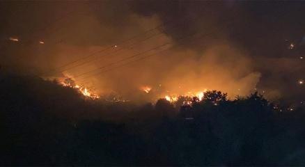 Hataydaki yangında evleri yanmasın diye gözyaşlarıyla dua ettiler