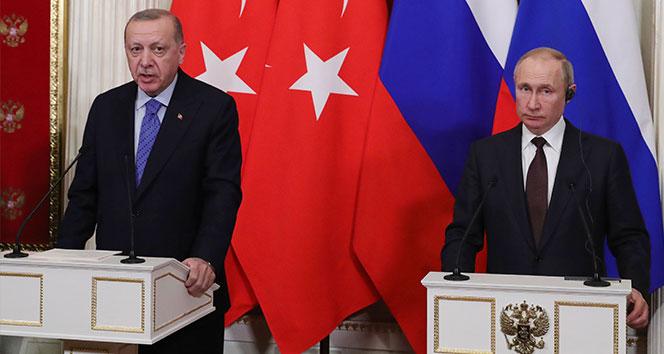 Cumhurbaşkanı Erdoğan ile Putin Dağlık Karabağ, Suriye ve Libya'yı görüştü
