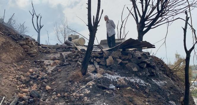 Hatay yangınında çok sayıda ev zarar gördü