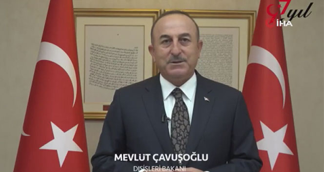 Bakan Çavuşoğlu'ndan saat 19.23'te Cumhuriyet Bayramı paylaşımı