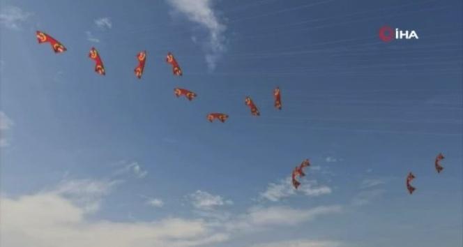 Çin'de yüzlerce uçurtma gökyüzünü renklendirdi