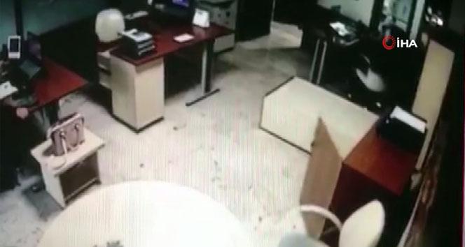 İzmir'de meydana gelen deprem güvenlik kamerasında