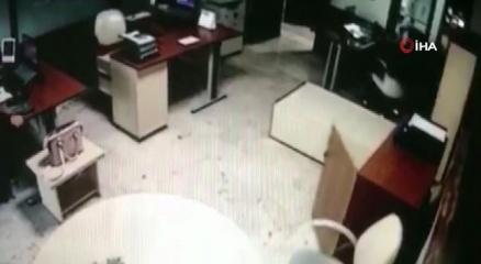 İzmirde meydana gelen deprem güvenlik kamerasında