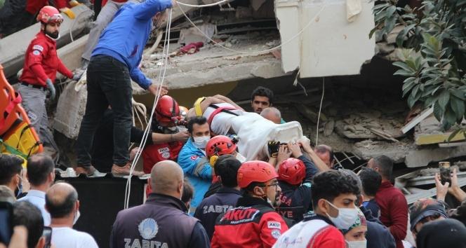 İzmir'deki enkazdan bir kişi daha kurtarıldı