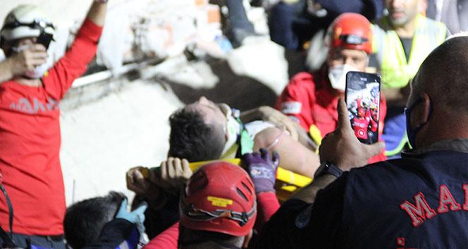 Depremden 6 saat sonra bir kişi daha yaralı kurtarıldı