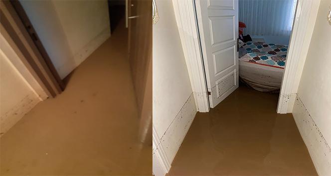 Kocaeli'de sel sularıyla dolan evler kullanılamaz hale geldi