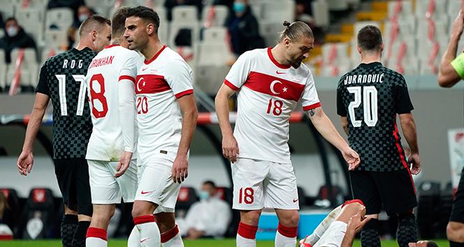 Hazırlık maçı: Türkiye: 3 - Hırvatistan: 3 (Maç sonucu)